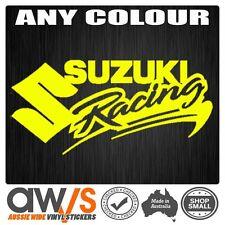 SUZUKI FACTORY RACING Sticker Motocross Car Racing Window Banner Large Ute Van