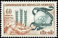 New Hebrides, French Scott #109 Mint Never Hinged  Freedom from Hunger Issue