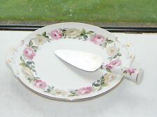 Royal Worcester Royal Garden Elgar Dished Cake Platter with Serving Slice 28cm