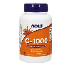 Vitamina Now Foods Vitamin C 1000mg 250 VTablets Rose Hips Bioflavonoids Rosa