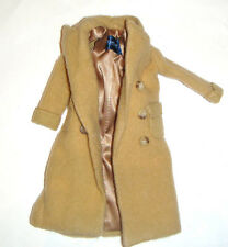 Barbie Doll Sized Fashion Double-Breasted Camel-Colored Coat fn920