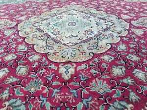 Breathtaking Antique 1930-1940s Wool Pile Vegy Dye Legendary Hereke Rug 5x7ft