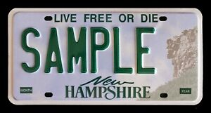 "NEW HAMPSHIRE GRAPHIC MAN PROFILE AUTO LICENSE PLATE "" SAMPLE "" LIVE FREE & DIE"
