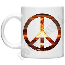Peace Sign Atomic Explosion Nuclear Love Not War Hippy  Tea Coffee Mug