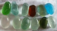 12 Multi Coloured English Seaglass Jellybean Pieces  North East Coast Seaham