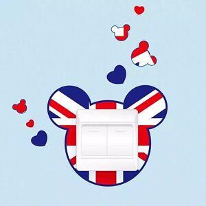Union Jack Micky Mouse Light Switch Wall Sticker, Children Boys Girls Room Decor