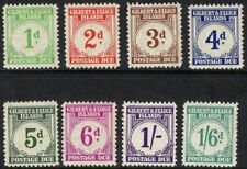 GILBERT & ELLICE IS. SGD1/8 1940 POSTAGE DUE SET MTD MINT