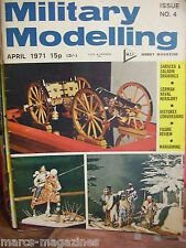 MILITARY MODELLING ISSUE # 4 APRIL 1971 SARACEN & SALADIN DRAWINGS