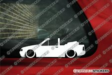 2x Low car outline stickers - for Ford Escort mk4 XR3i Cabriolet