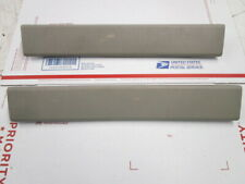 Lincoln Town Car L Series Set of 2 Rear Interior Sill Plate OEM Gray Stone