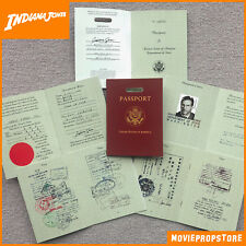 Indiana Jones Reisepass Film Prop - Indy Pass / Ausweis mit 16 Seiten