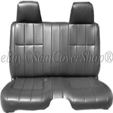 Pickup Thick Gray PU Leather Bench Seat Cover Large Notched Cushion Custom Fit