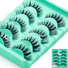 Makup 5Pair Beauty Wispies Natural Long Thick Soft Fake False Eyelashes Handmade