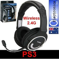 Wireless PS3 Stereo Headset Mic XBOX360E RCA Connection CHAT and Game sound NEW