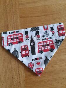 Handmade London fabric medium size pet bandana
