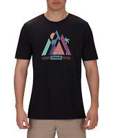 Hurley Mens T-Shirt Black Size Medium M Crewneck Graphic Short Sleeve Tee #097