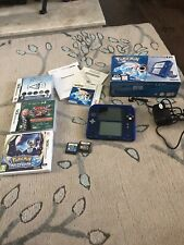 Nintendo 2DS With Built In POKEMON BLUE  Special Edition UK Version + 5 Games