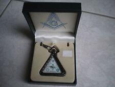 Montre gousset triangulaire Franc Maçonnerie avec coffret