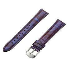 MICHELE 16MM PURPLE SNAKE SKIN LEATHER WATCH STRAP,BAND MS16AA420515