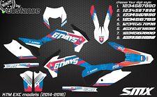 KTM EXC XC-W XCF-W 2014 2015 ENDURO graphics motocross decals kit 2016 slovakia