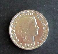 Münze 20 Rappen Schweizer Franken 1978 aus Umlauf gültiges Zahlungsmittel