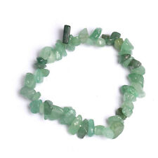 Gravel Natural Green Aventurine Stone Bracelets For Women Stretchy Bangle 19cm