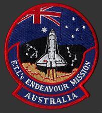 """FTL'S ENDEAVOUR MISSION - Australia - NON COMMERCIAL 4 5/8"""" SPACE SHUTTLE PATCH"""