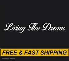 Living the Dream JDM Ute Car 4x4 Decal Sticker Funny Happy Fishing Gift Dad