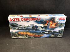 Academy A-37B Dragonfly Light Attack Plane 1:72 Scale Plastic Model Kit 1663 NIB