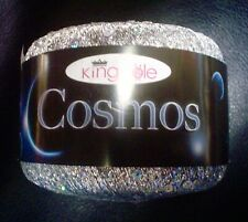 King Cole Cosmos Yarn Galactica #1095 Silver With Iridescent Sequin Sparkle!