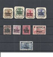 Landespost in Belgien, Michelnummern: 1 - 9 o, gestempelt o, Katalogwert € 45,00