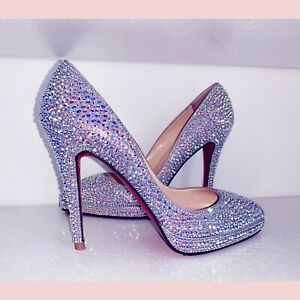 Christian Louboutin Crystal Strass Pigalle Size 6!
