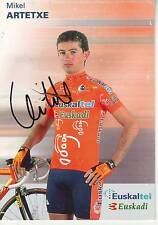 CYCLISME carte cycliste MICHEL ARTETXE  équipe EUSKALTEL EUSKADI 2001 signée