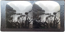 Keystone Stereoview Milford Sound, West Coast of NEW ZEALAND from 1930s T400 Set