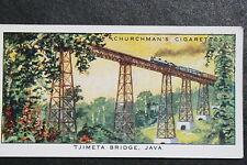 Dutch East Indies Railway  Tjimeta Bridge Java  Indonesia  Vintage Card