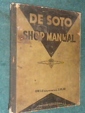 1937 De SOTO SHOP MANUAL / SERVICE MANUAL / ORIGINAL MOPAR DeSOTO S-5  BOOK!!