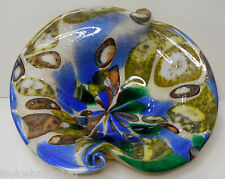 MURANO Millefiori Freeform Bowl scroll edge Mid Centry Vintage