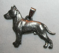 American Staffordshire Terrier Amstaff Dog Harris Fine Pewter Pendant Usa Made