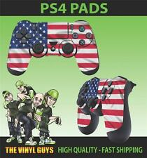 PS4 PLAYSTATION 4 CONTROLLER PAD STICKER USA FLAG STARS AND STRIPES SKINS X 2