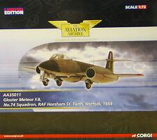 CORGI aa35011 Gloster Meteor F.Mk 8 RAF no74 Sqn Horsham ST. Faith INGLESE 1954