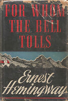 FOR WHOM THE BELL TOLLS-1ST/1ST W/$2.75 DJ-ERNEST HEMINGWAY-NICE COLLECTABLE!