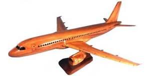 Airbus A-320 Handcrafted Natural Mahogany Premium Wood Display Desk Model