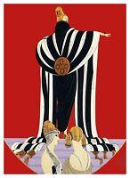 Art Deco Woman by ERTE, Romain de Tirtoff  Counted Cross Stitch Pattern