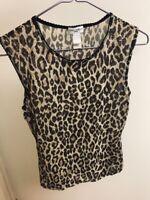 Authentic Dolce Gabanna D&G Top Sheer Leopard Print Size XS/S Netaporter