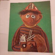 Vintage Mb Sesame Street Muppets Ernie Puzzle Complete