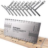 Guitar Understring Radius Gauges One Set of 9 & 1 Pcs Guitar String Action Ruler