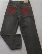 NWT ECKO UNLTD. Boys Pale Black Jeans with Red(Size 18) MSRP$46.00 NEW