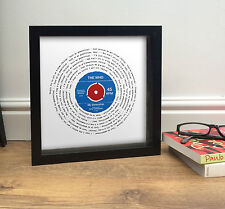 More details for mod the who my generation vinyl record song print - vintage gift 50th birthday