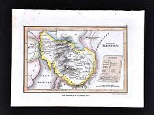 1823 Palmer Map - Tribe of Reuben - Bezer Heshbon - Israel Hebrew Old Testament
