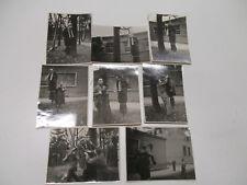 Lot de 8 photos anciennes (1948) sur ; Bizutage / Pendu / militaires